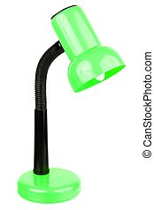 Desk lamp - Green desk lamp isolated on a white background