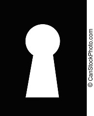 Keyhole - A keyhole isolated against a black background
