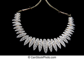 indian jewelery - authentic indian jewelery isolated on...