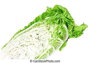 Cabbage peking - Cabbage Peking isolated on a white...