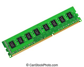 DDR3 memory module isolated on white background