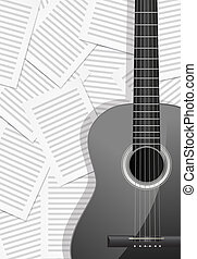 guitar with musical background