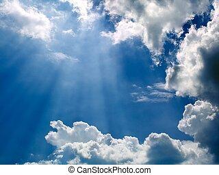 Beams of sunlight