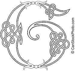 Celtic Knot-work G - A Celtic Knot-work Capital Letter G...