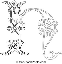 Celtic Knot-work H - A Celtic Knot-work Capital Letter H...