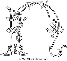 Celtic Knot-work N - A Celtic Knot-work Capital Letter N...