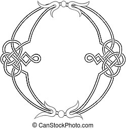Celtic Knot-work O - A Celtic Knot-work Capital Letter O...