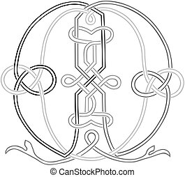 Celtic Knot-work M - A Celtic Knot-work Capital Letter M...