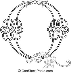 Celtic Knot-work Q - A Celtic Knot-work Capital Letter Q...