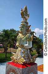 Angel statue at the temple in Thailand