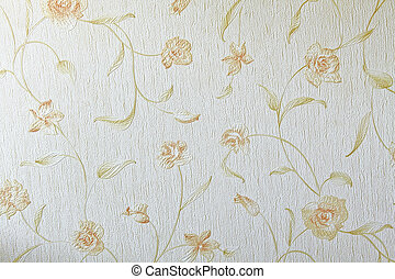 Flower wallpaper textile