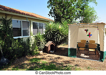 Sukkah for Jewish Holiday Sukkot - A sukkah is a temporary...
