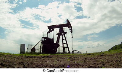 Gas production - Oil rig extracts resources from the earth....