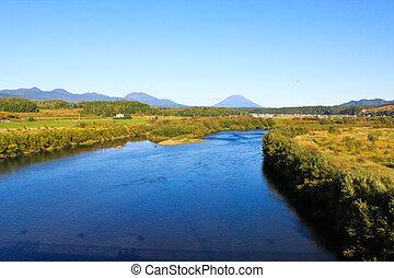 Landscape in hokkaido, japan
