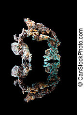 Natural copper metal - Rough copper as it is found in...