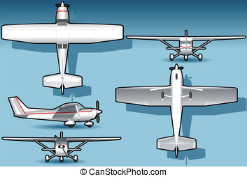 isometric white plane - Detailed illustration of a isometric...