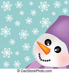 Background with snowman