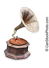 gramophone - antique old gramophone