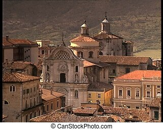 LAQUILA inner city view close - The italian city of L'Aquila...