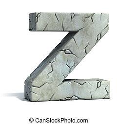 letter Z cracked stone