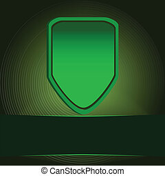 Green protection shield vector illustration