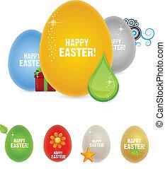 spring happy easter egg symbols set