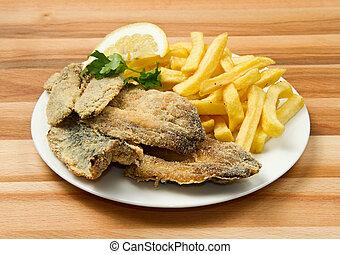 fritado, sardinhas
