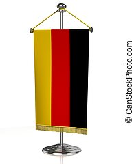 German table flag isolated on white