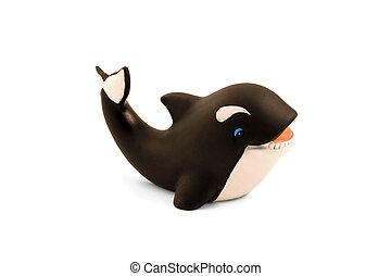 Whale - A rubber toy whale for the bath