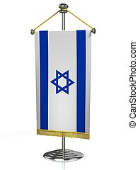 Israel table flag isolated on white