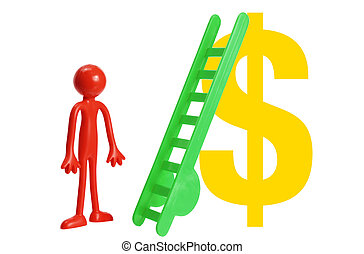 Miniature Figure with Dollar Sign