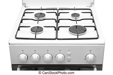 stove top over white background