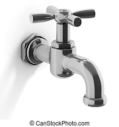 water tap isolated