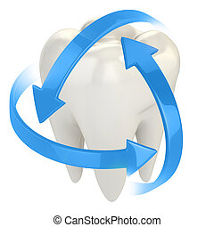 teeth protection 3d concept illustration