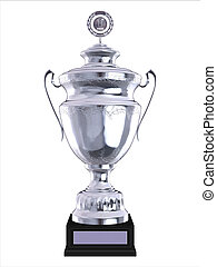 3d trophy isolated