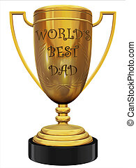 best dad trophy 3d illustration