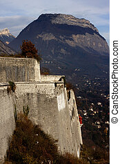 La Bastille castle on the hill at Grenoble, France
