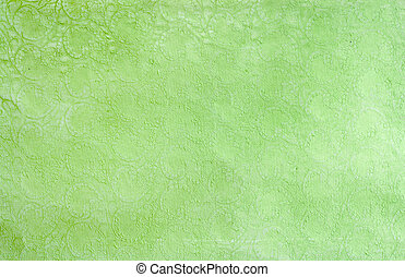 Soft green pattern line art background.
