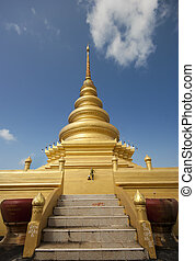 Golden stupa or jedi Thai style.
