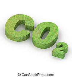 Green Co2 Concept - A Colourful 3d Rendered Green Co2...