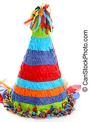 Party Pintilde;ata - Colorful Piñata Isolated On A White...