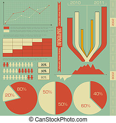 retro elements for infographics