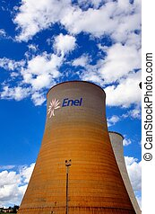 Cooling tower - A Cooling tower of a power plant