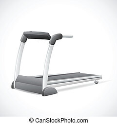 Treadmill - illustration of treadmill on abstract background