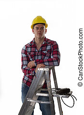 labourer ready for work - construction worker