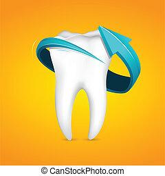 Arrow around Tooth