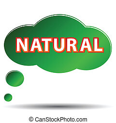 Natural icon - Green natural symbol located on a white...