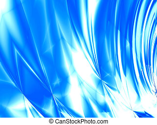 abstract waves, overflowing the tints of blue color on a...