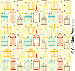 Bird cages pattern