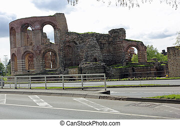 ruins of  Roman baths in Trier